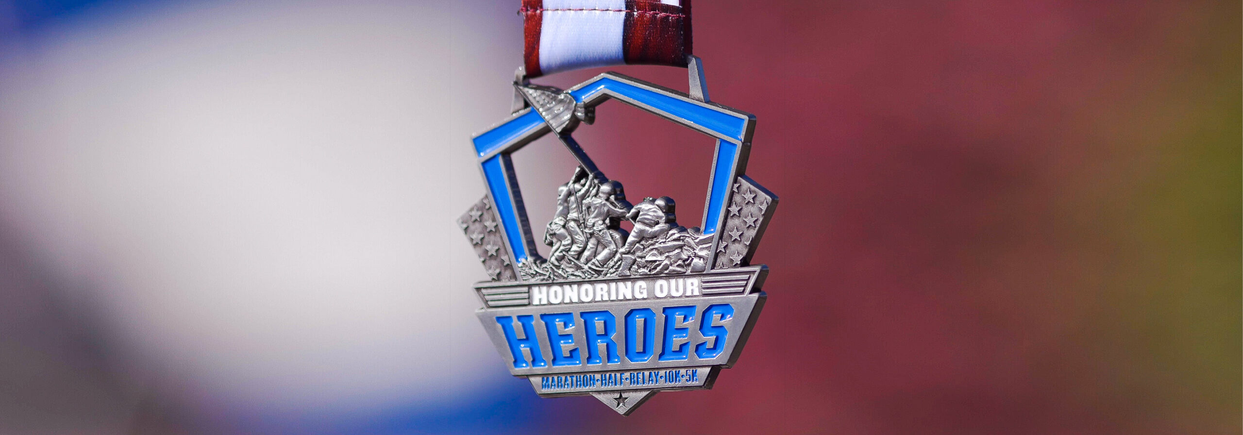Honoring Our Heroes Marathon Cover Photo Medal